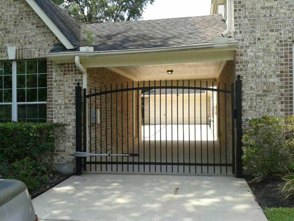 Front Driveway Gates Houston Tx Sentry Garage Door Amp Gate