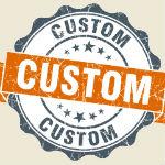 Custom garage doors benefits sign