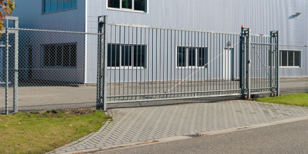 Commercial gate opener system