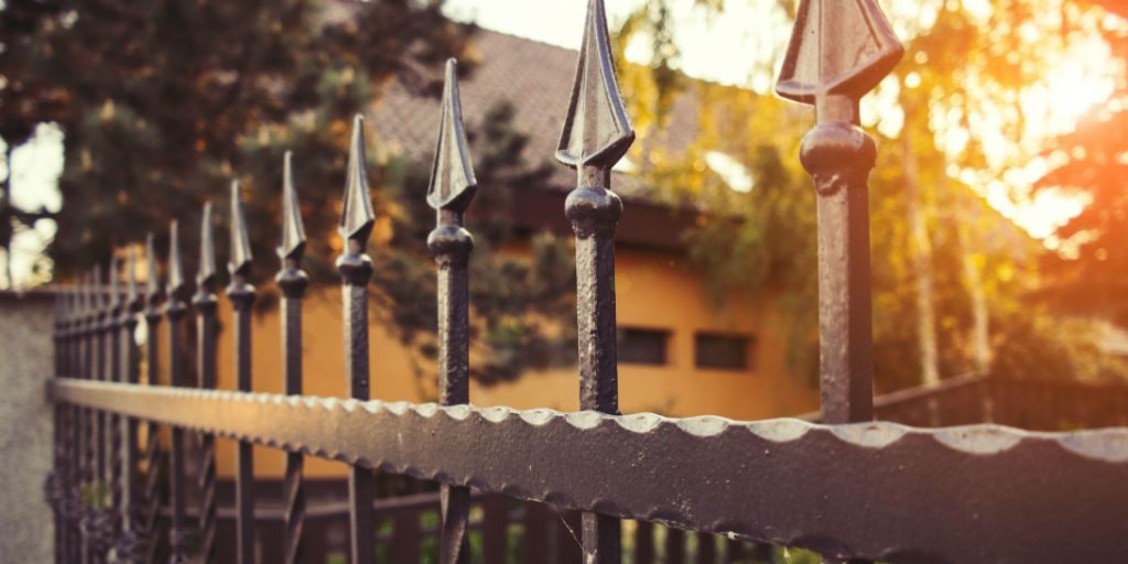 Iron fence top