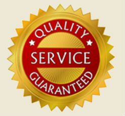 Garage door & gate quality service grantee logo