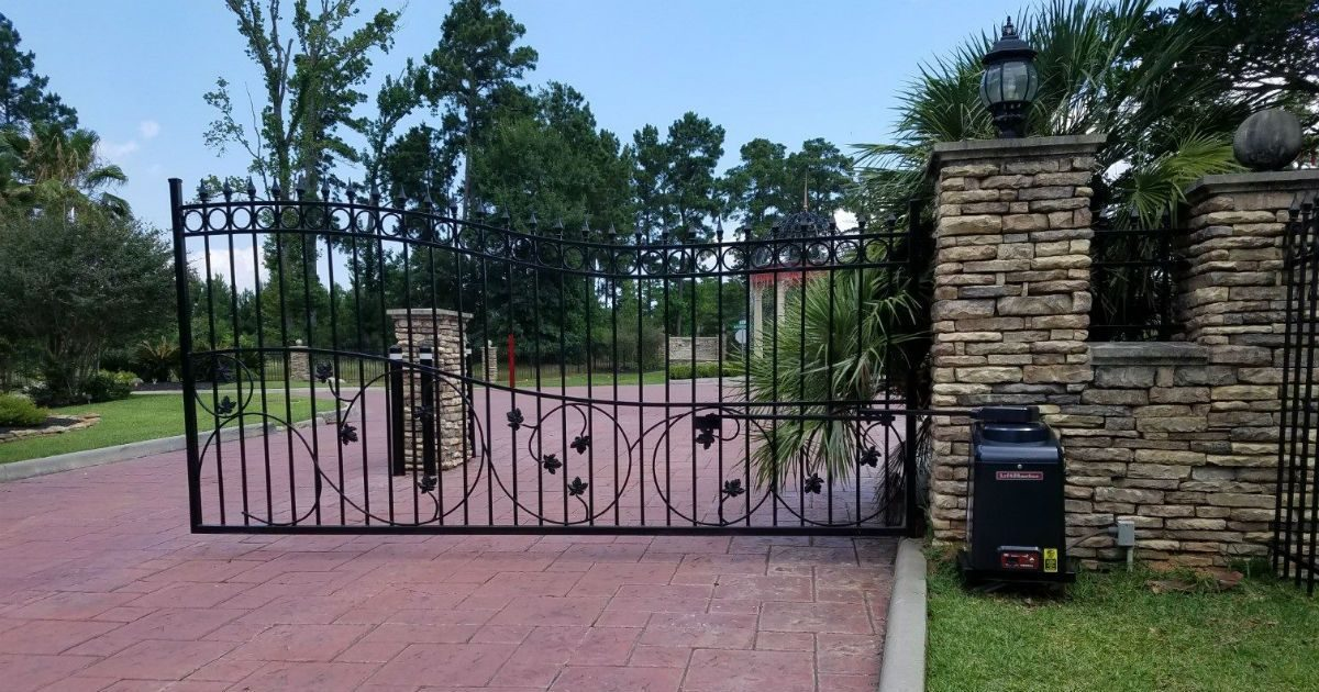 West University Tx Gates Electric Security Gate West