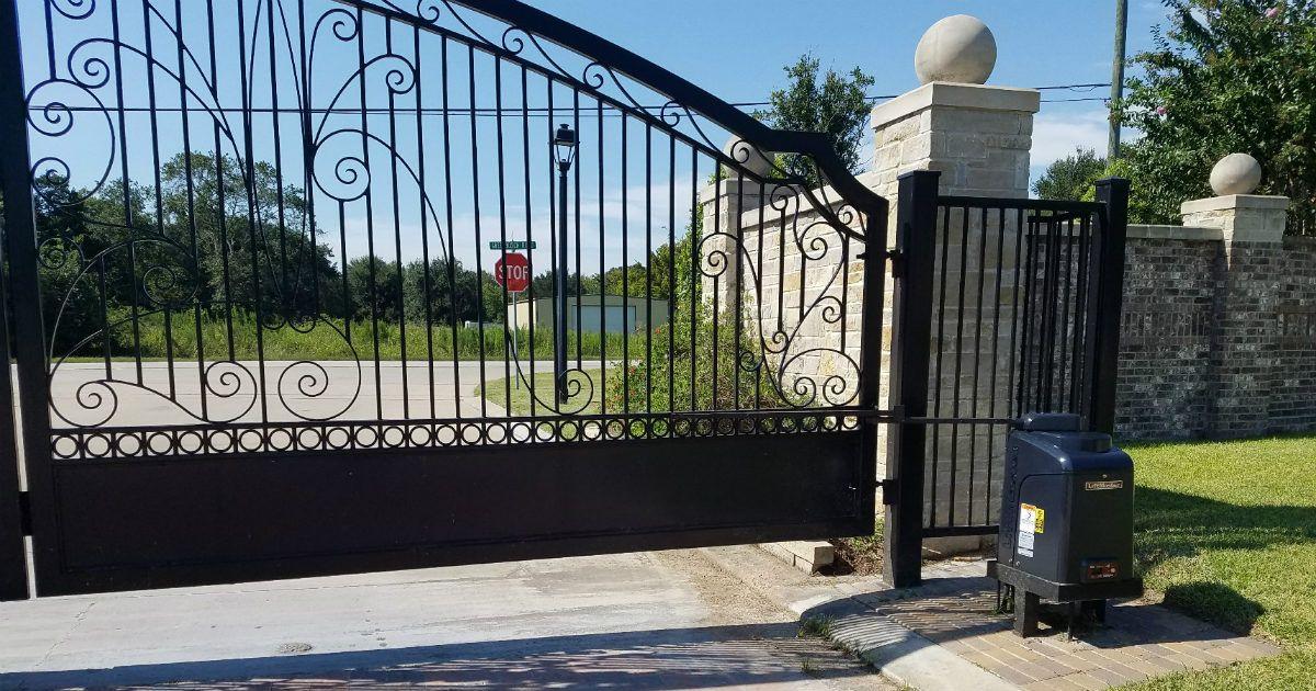 Cypress Tx Driveway Gate Sentry Garage Door Gates