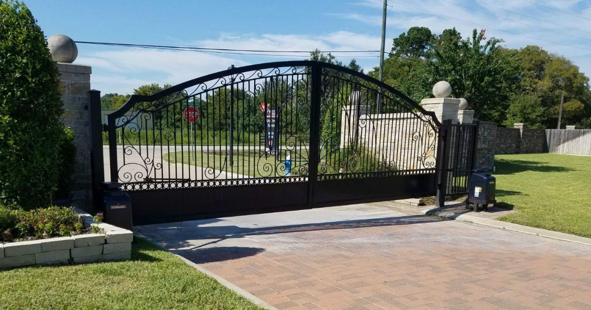 Liftmaster Iron Swing Gate Sentry Garage Door Amp Gates